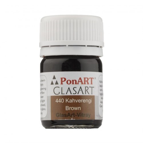 Ponart Glass Art 20 Ml Kahverengi Cam Boyası - 440