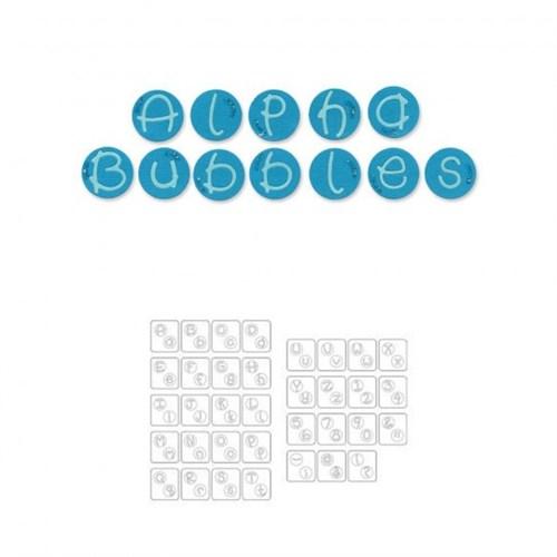 Sizzix Alfa Kabarcıkları Alfabe Şekilli Kalıp - 1654880