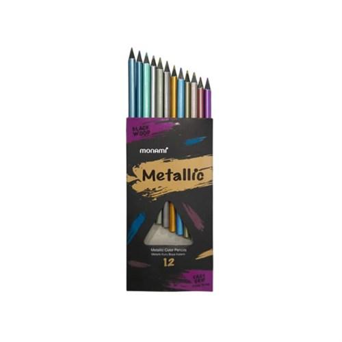 Monami Metalik Kuru Boya 12 Renk Mkb5102b12