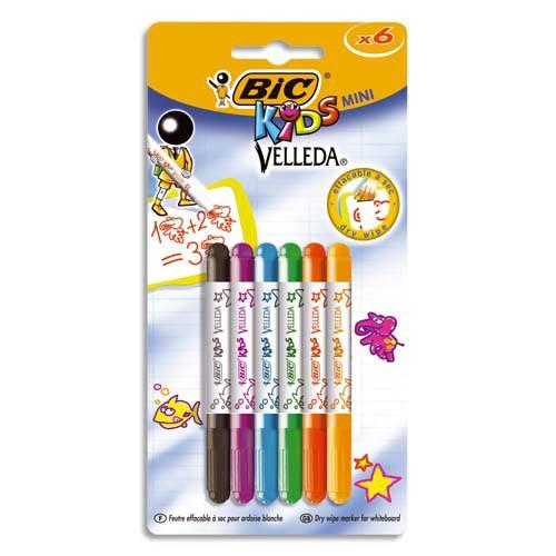 Bic Mini Velleda 6'Lı Beyaz Tahta Kalemi 841387