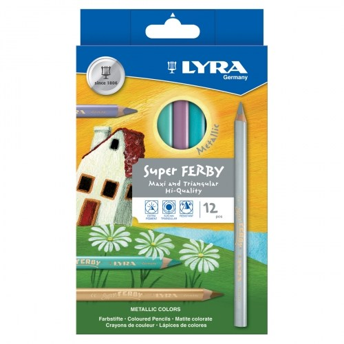 Lyra Super Ferby Metalik Kuruboya 12'Li Paket L3721122