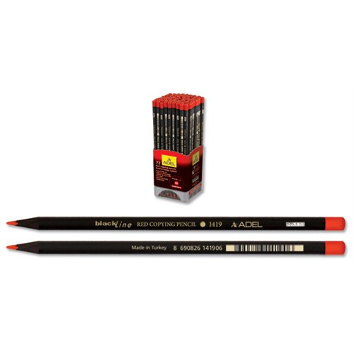 Adel 1419 Kırmızı Kopya Boya Kalemi Siyah Lata 72'li (2131419004)