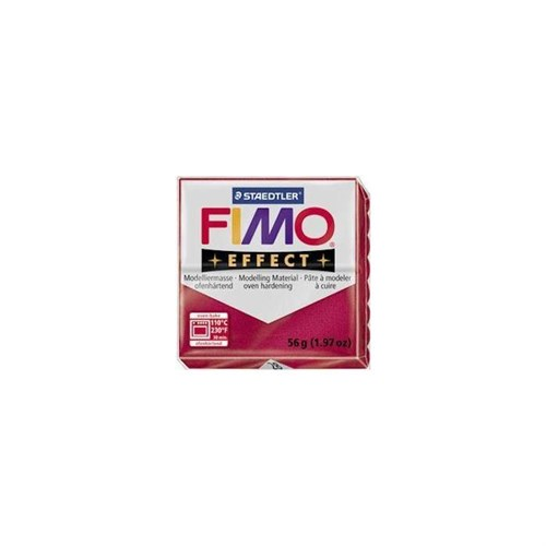 Fimo Effect Metalik Yakut Kırmızısı 8020-28 56Gr.