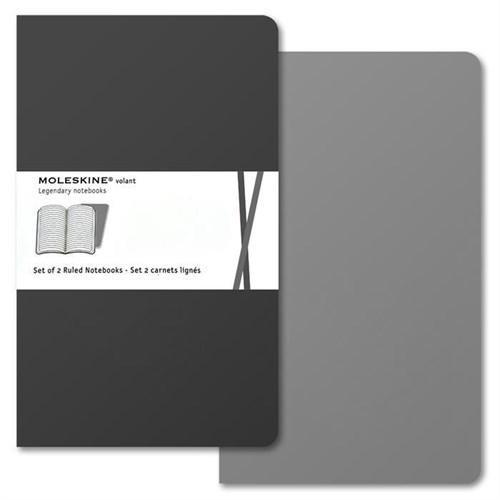 Moleskine 3339 Volant 2'Li Pocket Çizgili Gri