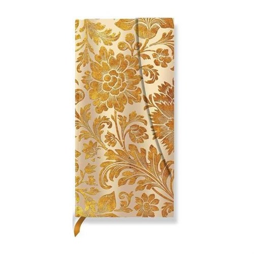 Paperblanks Midnight Gold Slim Adres - 95X180 Mm 128 Syf 1227-0