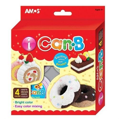 Amos I-Can 4Lü Boncuk Hamur Yan Renk 25Gr Icb4p2