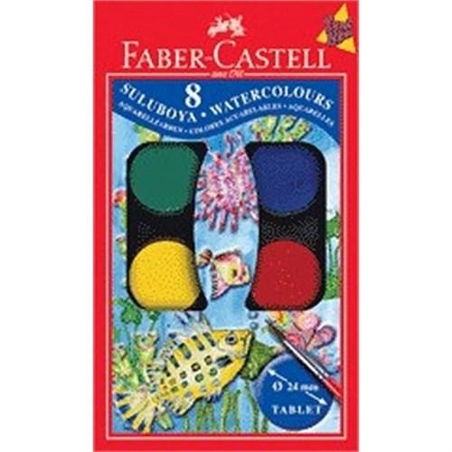 Faber-Castell Küçük Hazneli Suluboya 8 Renk 190008