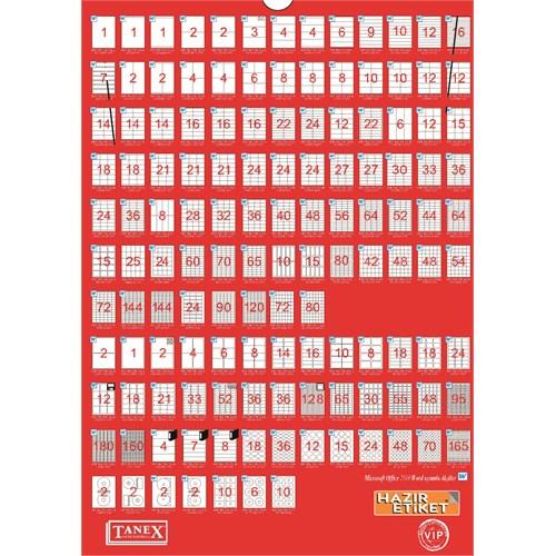 Tanex TW-2118 58,4x42,3 mm Laser Etiket 100 Ad.