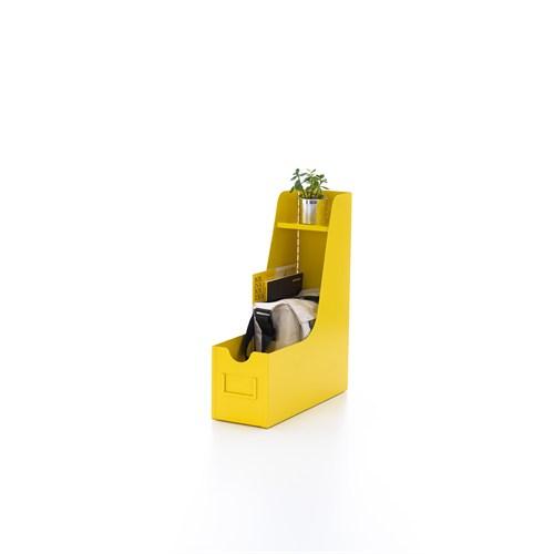 Ersa Mobilya Big Binder Evraklık / Metal / Deri Kulplu - Sarı