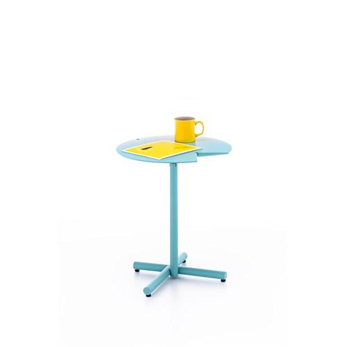 Ersa Mobilya Corner Table / Lake Tabla / Metal Ayak / Yüksekliği Ayarlanabilir Turkuaz
