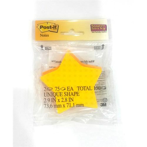 Post-İt Yapışkanlı Super Sticky Not Kağıdı Yıldız Şekilli