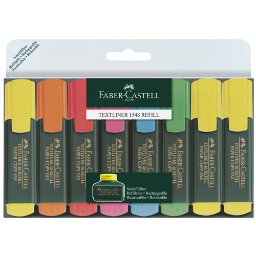 Faber-Castell Fosforlu Kalem Karışık Renk 8 Li 1548 62
