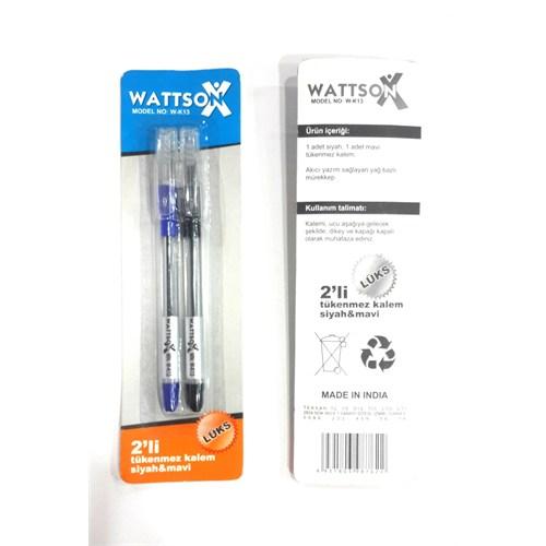 Wattson Tükenmez Kalem 2 Li Kartelalı