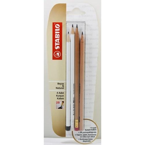 Stabilo Beyaz&Naturel 4'lü Blister 550/2b/4