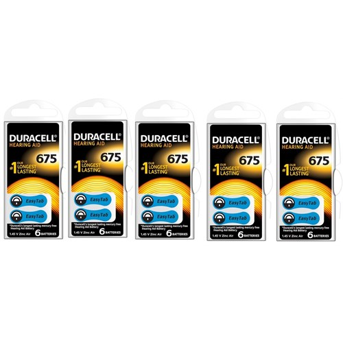Duracell 675 Numara İşitme Cihazı Pili 5'Li Paket
