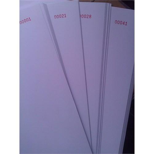 Sistem 1-2000 Numaralı Kağıt A4 80 Gr Yevmiye Ve Kebir Defteri İçin Matbaa Baskılı