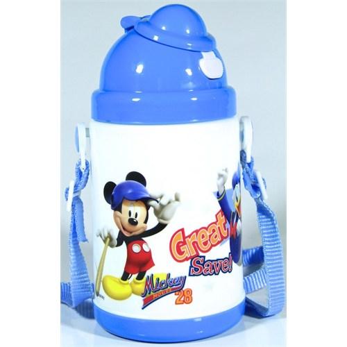 Vardem Mickey Mouse Pipetli Kapaklı Matara (350 Ml)