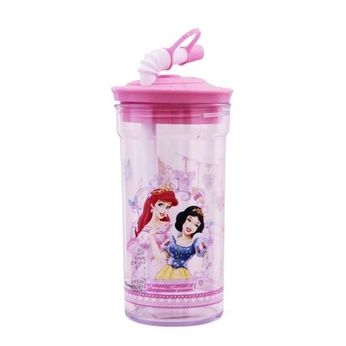 Vardem Disney Princess Kapaklı Pipetli Bardak Matara