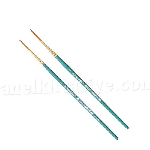 Ponart Sentetik Uzun Kıllı Yuvarlak Uç Çizgi Ve İmza Fırçası 9916 - 0