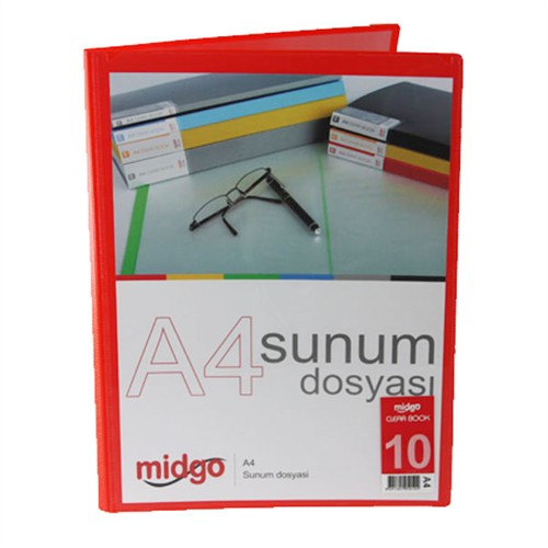Midgo A4 10'Lu Sunum Dosyası Ng - 10A - 50102
