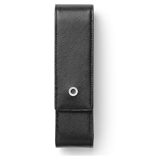 Graf Von Faber Castell İkili Kalem Kılıfı Saffiano Siyah 118829