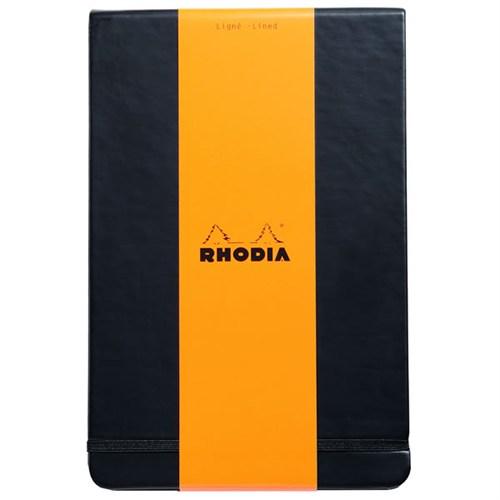 Rhodia Sert Kapak Çizgili Defter Siyah Rw 118349
