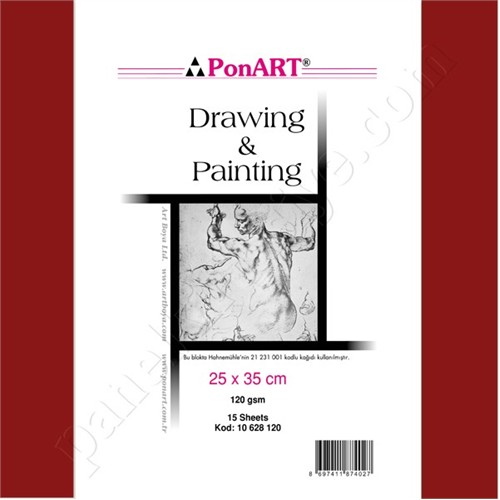 Ponart Drawing & Painting Block Resim Defteri 25X35 Cm