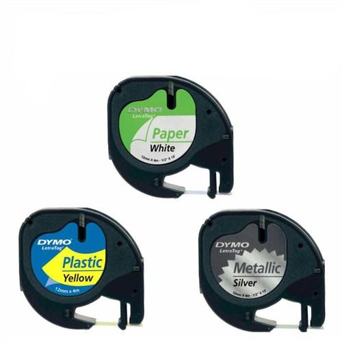 Dymo Letratag Etiket 5 Adet 59421 12M X 4Mm Sarı Plastik Etiket