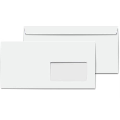 Marka Pencereli Diplomat Zarf 110 Gr. Silikonlu Beyaz Para Zarfı 500 Adet 10,5X24 Cm