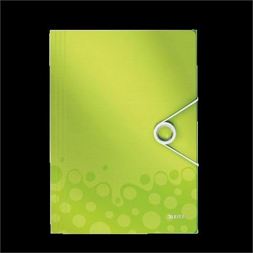 Leitz Active Wow İnce Lastikli Dosya Metalik Yeşil 45990064
