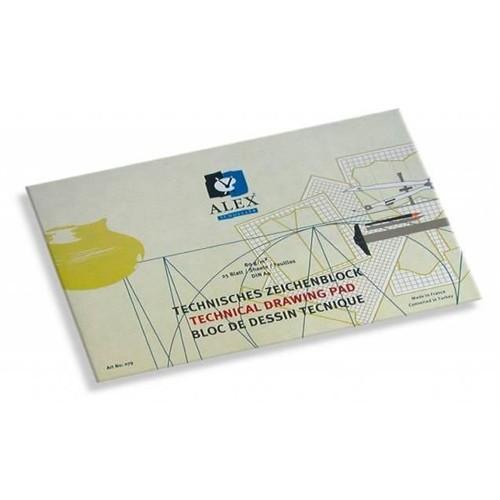 Alex Schoeller Teknik Çizim Bloğu A4 80 Gr 20 Yaprak Yatay