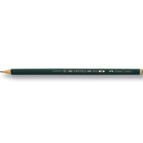 Faber-Castell 9000 Dereceli Resim Kalemi 12\'Li-Hb