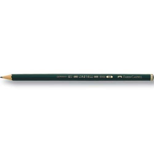 Faber-Castell 9000 Dereceli Resim Kalemi 12\'Li-6B