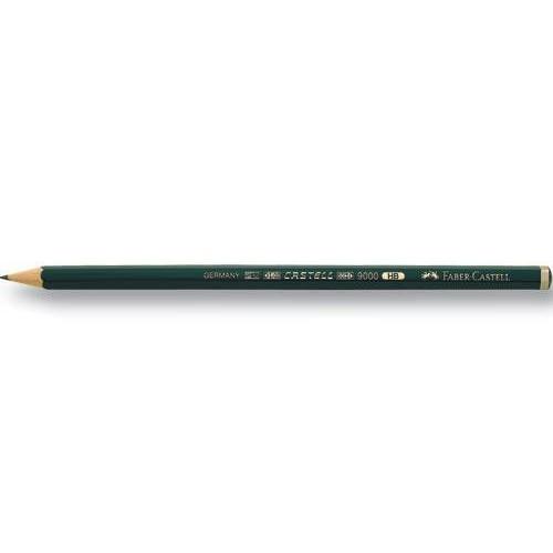 Faber-Castell 9000 Dereceli Resim Kalemi 12\'Li-8B