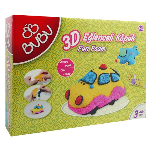 Bu-Bu 3D Eğlenceli Köpük Araba-Uçak Bubu-Ek0003