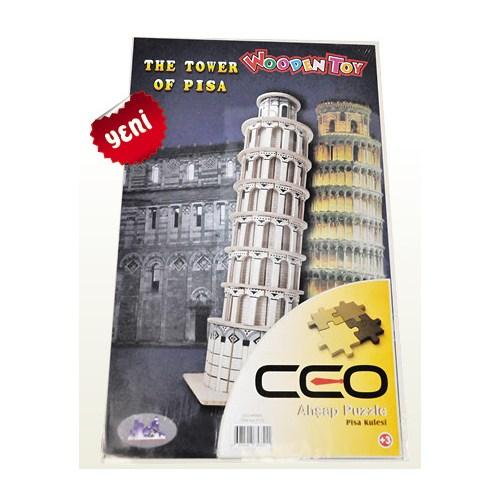 Ceo 3D Ahşap Puzzle Pisa Kulesi Ceo-Ap0005
