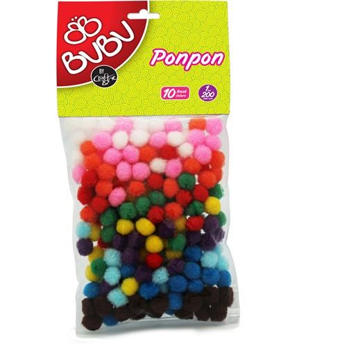 Bu-Bu Ponpon 1Cm 200'Lü Karma 10 Renk Bubu00108