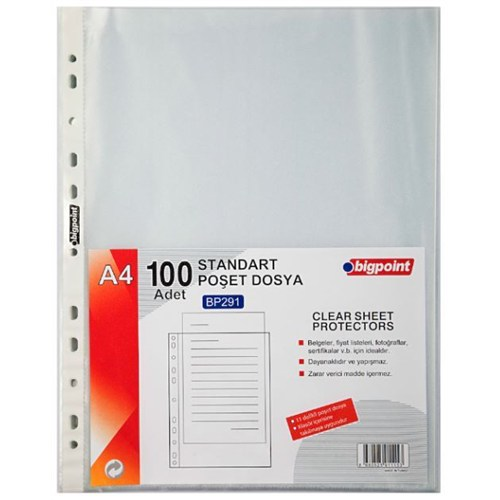 Bigpoint Poşet Dosya Standart 100 'Lü Paket Bp291