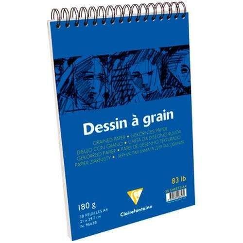 Clairefontaine Dessin A Grain İnce Dokulu Çizim Bloğu 30 Yaprak 180 Gr. A4