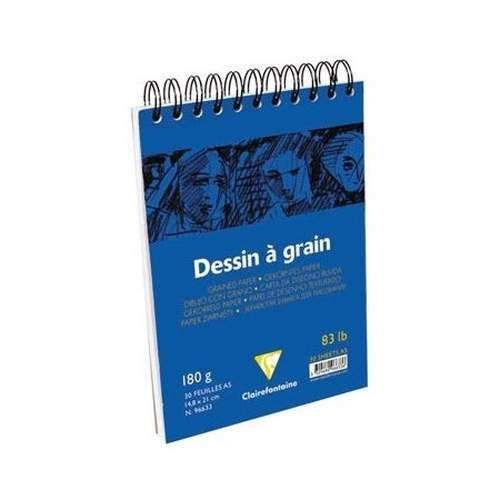 Clairefontaine Dessin A Grain İnce Dokulu Çizim Bloğu 30 Yaprak 180 Gr. A5