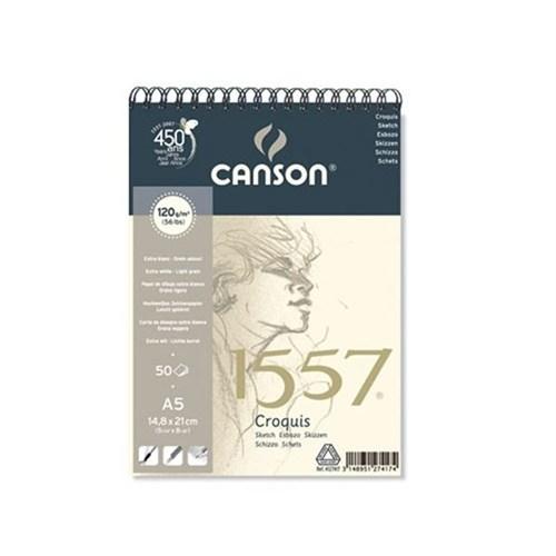 Canson 1557 Croquis Resim Ve Çizim Blok 120 Gr. Üstten Spiralli A5 40 Sayfa