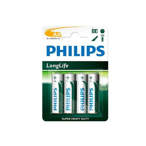 Philips R6l4b/97 Longlife Aa 4 Lü Kalem Pil