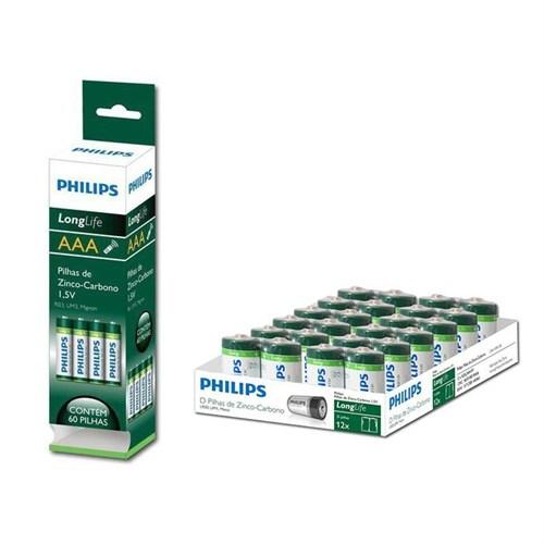 Philips R03l60t/97 Zinc-Chloride Longlife Kutu 60 Adet Aaa İnce Kalem Pil