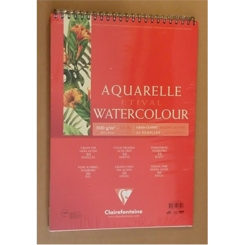 Clairefontaine Resim Defteri Etival Watercolor Suluboya A3 300Gr 30 Sayfa 93619