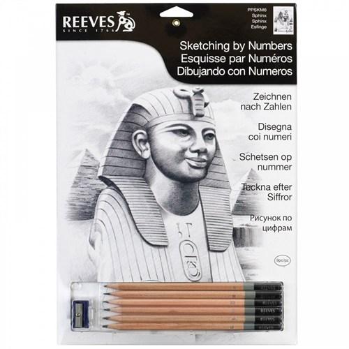 Reeves Dereceli Kalemler İle Gölgelendirme Çizim Seti Sphinx