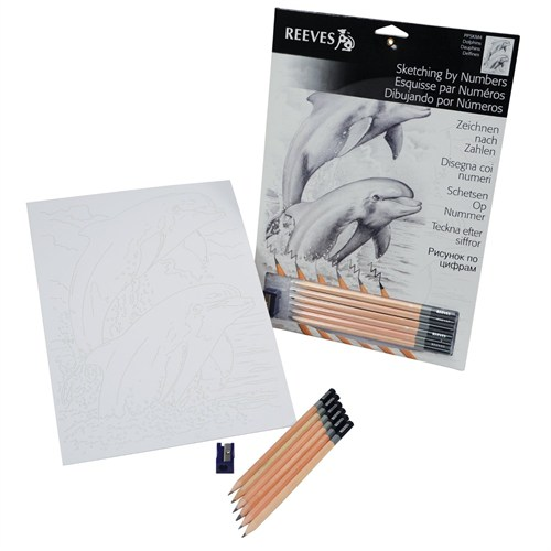 Reeves Dereceli Kalemler İle Gölgelendirme Çizim Seti Yunuslar