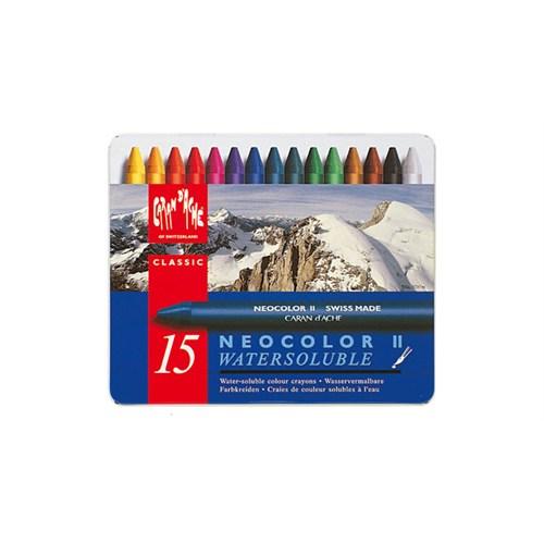 Caran D'ache Neocolor 15 Renk Water Soluble Wax Pastel Boya