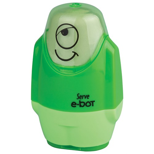 Serve E-Bot Silgi+Kalemtıraş 9'Lu Karton Kutu Yeşil Sv-Ebot9Ktfy