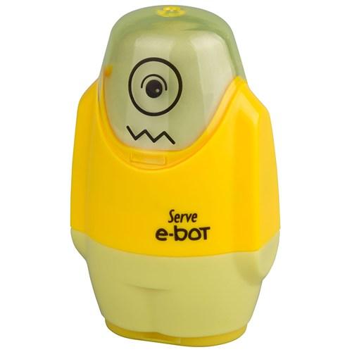 Serve E-Bot Kalemtraş-Silgi Sarı