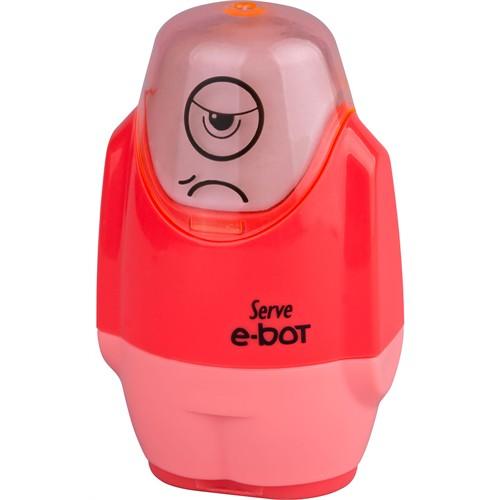 Serve E-Bot Silgi+Kalemtıraş 9'Lu Karton Kutu Kırmızı Sv-Ebot9Ktfk
